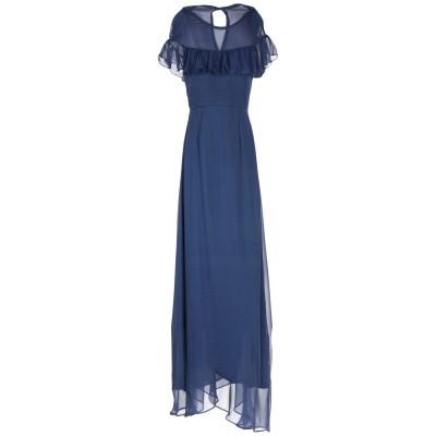 BY MALINA ロングワンピース&ドレス ダークブルー M シルク 100% ロングワンピース&ドレス