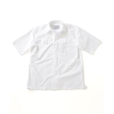 2ポケットオープンカラーオーバーシャツ