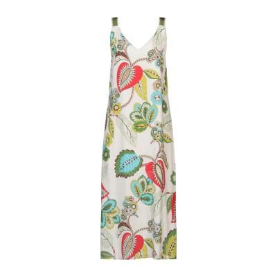 SEVENTY SERGIO TEGON ロングワンピース&ドレス アイボリー 44 レーヨン 100% ロングワンピース&ドレス