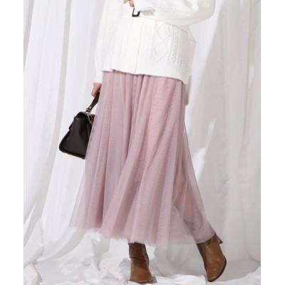 QUEENS COURT / 【WEB別注】チュールスカート WOMEN スカート > スカート
