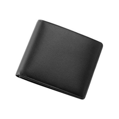 Sale【キプリス】二つ折り財布(カード札入)■ボックスカーフ 〜ポトフィール〜 4412(ブラック)