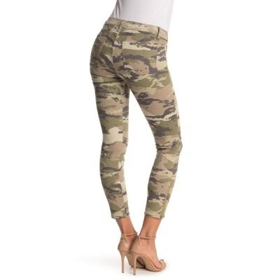 レイミー ブルック レディース デニムパンツ ボトムス Katie Camo Print High Waist Ankle Crop Skinny Jeans SAGE COMBO