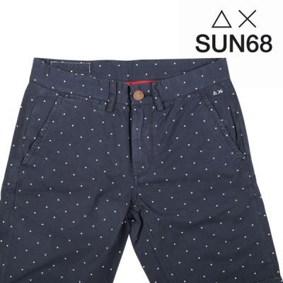 【30】 SUN68 サンシックスティーエイト ハーフパンツ メンズ 春夏 水玉 ネイビー 紺 並行輸入品 ズボン