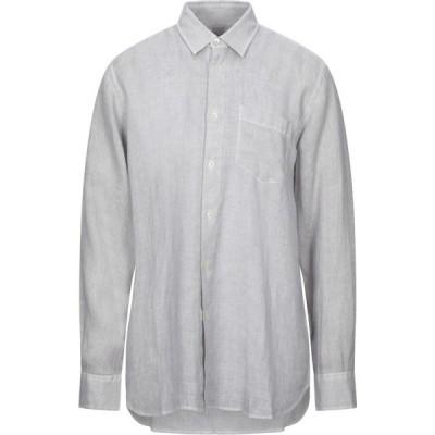 120パーセント 1.2 メンズ シャツ トップス Linen Shirt Grey