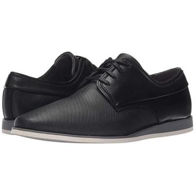 カルバン・クライン Kellen メンズ オックスフォード Black Emboss Leather