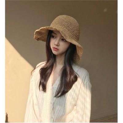 帽子 レディース 日よけ帽子 折りたたみ帽子 折たたみ 麦わら帽子  ハット 可愛い uvカット