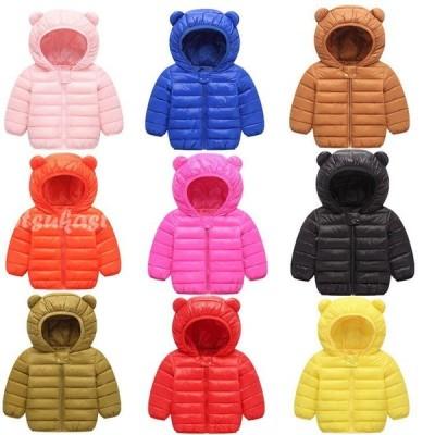 キッズ ダウン 子供 コート  キッズ ダウンジャケット ダウン コート 子供服 ダウン 女の子 男の子 アウター コート フード付き 子ども服 中綿 9色