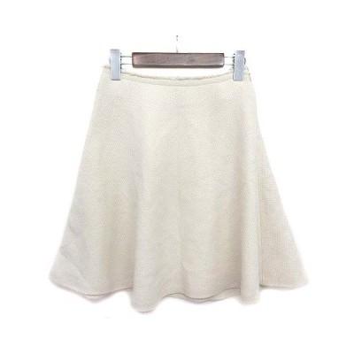 【中古】プロポーション ボディドレッシング PROPORTION BODY DRESSING スカート ひざ丈 フレア ウール混 ホワイト 白 3 ■VG レディース 【ベクトル 古着】