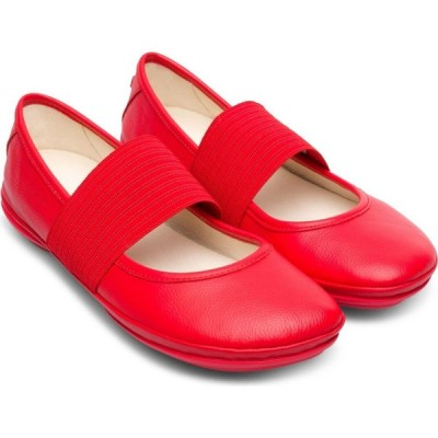 カンペール CAMPER レディース スリッポン・フラット シューズ・靴 Right Nina Leather Ballerina Flat Red