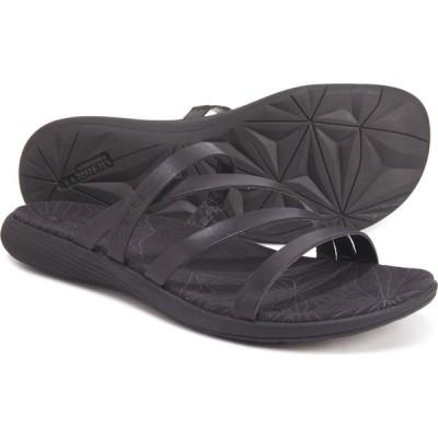 メレル Merrell レディース サンダル・ミュール シューズ・靴 Duskair Seaway Slide Sandals - Leather Black