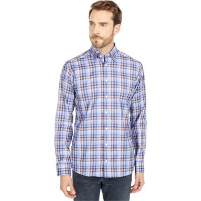 イートン Eton メンズ シャツ トップス Slim Fit Plaid Signature Twill Shirt Blue/Brown
