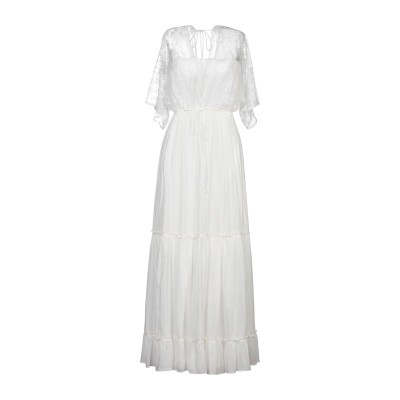 SOALLURE ロングワンピース&ドレス ホワイト 40 コットン 80% / シルク 20% / ナイロン ロングワンピース&ドレス