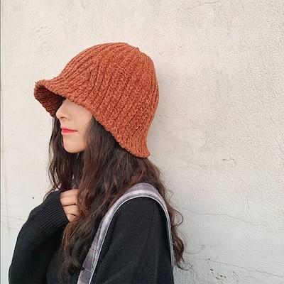 送料無料 ニット帽 小顔効果防寒対策 帽子 レディース 大きいサイズ ニットキャップ ゆったり 秋 冬 ふわふわ 毛糸 暖か 編み