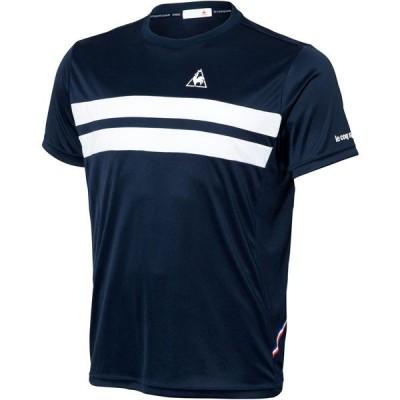 大特価!ルコック(le coq sportif) 半袖シャツ テニス Tシャツ QTULJA31ZZ-NVY・ユニセックス メンズ・ユニセックス