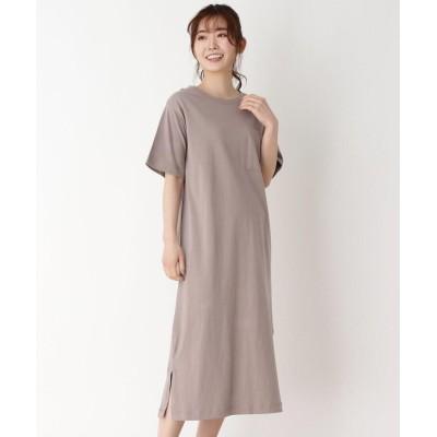 pink adobe(ピンクアドベ) 【M-LL】Tシャツワンピース
