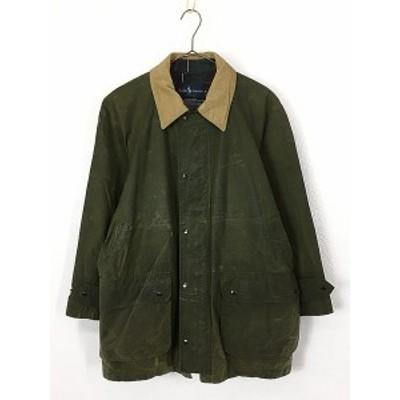 古着 90s USA製  POLO Ralph Lauren ラルフ オイルド ワックス「BEDAL」タイプ ジャケット コート M 古着