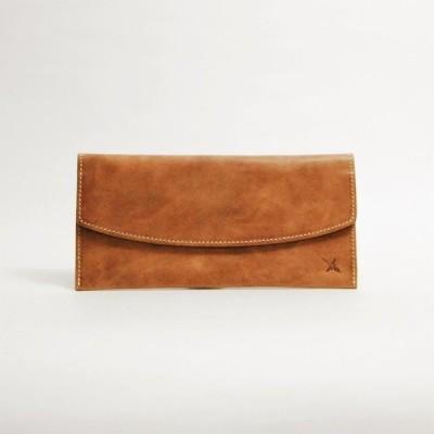 (送料無料)  財布 レディース メンズ 長財布 レザー 本革 薄型フラップ アインソフ Ain Soph DA1412-HP