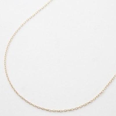 10金 ネックレス  (K10YG 45cm 0.6g スペアー角小豆チェーン)