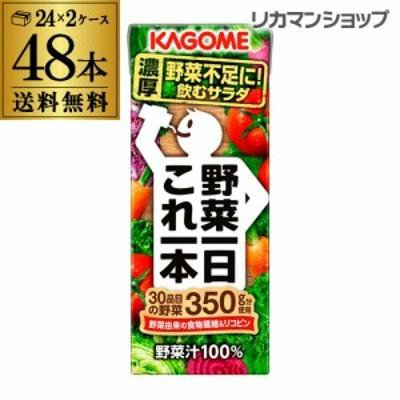 カゴメ 野菜一日これ一本 200ml 48本 送料無料 2ケース 紙パック 野菜ジュース 長S