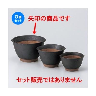 5個セットスリ鉢 黒マット麦とろ鉢(大) [ 16.5 x 15.2 x 9.5cm ] 【 料亭 旅館 和食器 飲食店 業務用 】