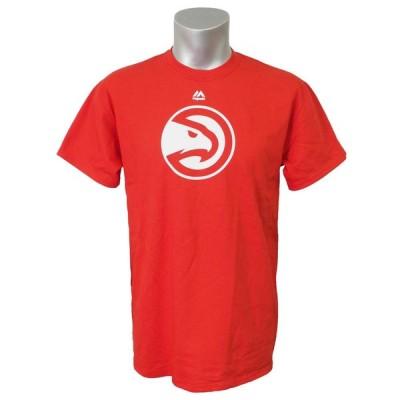 NBA Tシャツ ホークス プライマリーロゴ 半袖 マジェスティック/Majestic レッド【OCSL】