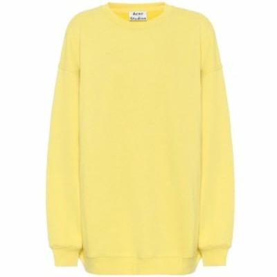 アクネ ストゥディオズ Acne Studios レディース スウェット・トレーナー トップス Cotton-blend jersey sweatshirt Canary Yellow
