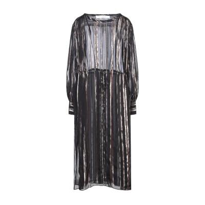 イロ IRO 7分丈ワンピース・ドレス ブラック 40 シルク 88% / 金属繊維 12% 7分丈ワンピース・ドレス