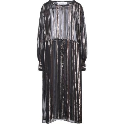 イロ IRO 7分丈ワンピース・ドレス ブラック 36 シルク 88% / 金属繊維 12% 7分丈ワンピース・ドレス