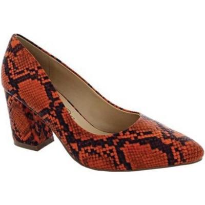 ペニーラブスケニー サンダル シューズ レディース Venus Pump (Women's) Orange/Black Snake Print Polyurethane