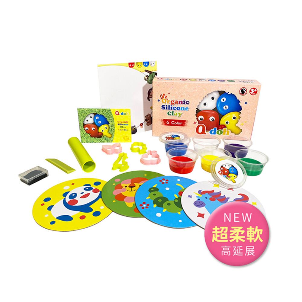 q-doh 歡樂超柔軟有機矽膠黏土 6色工具組