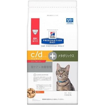 ヒルズ 猫用 c/d マルチケアコンフォート+メタボリックス 尿ケア+体重管理 ドライ 500g