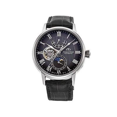 [オリエントスター] 自動巻き腕時計 メカニカルムーンフェイズ RK-AY0104N メンズ チャコールグレー
