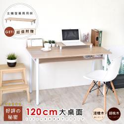 《HOPMA》多功能巧收圓腳工作桌 /書桌(附主機架)