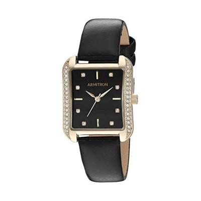 腕時計 アーミトロン レディース 75/5725BKGPBK Armitron Women's Genuine Crystal Accented Gold-Tone