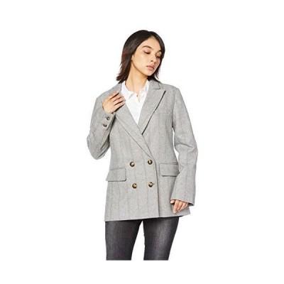 アングリッド ジャケット Clチェックデザインルーズジャケット レディース 111950156001 グレー 日本 S (日本サイズS相当)