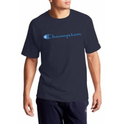 チャンピオン メンズ Tシャツ トップス Classic Graphic T-Shirt Navy