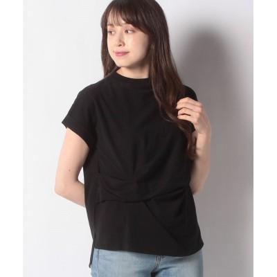【メルローズ クレール】 ドレープデザインTシャツ レディース ブラック F MELROSE Claire
