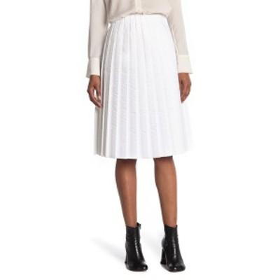 メゾンマルタンマルジェラ レディース スカート ボトムス Padded Pleated Midi Skirt 100 WHITE