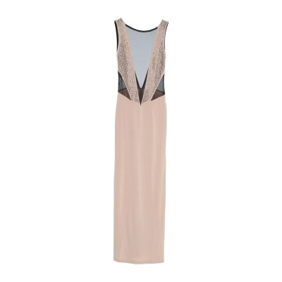 PHILIPP PLEIN ロングワンピース&ドレス ベージュ S ポリエステル 100% ロングワンピース&ドレス