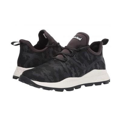 Timberland ティンバーランド メンズ 男性用 シューズ 靴 スニーカー 運動靴 Brooklyn Fabric Oxford Sneakers - Black Mesh Camo