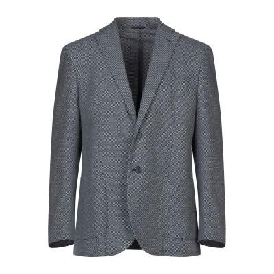 LUBIAM テーラードジャケット ダークブルー 50 コットン 84% / リネン 12% / ナイロン 4% テーラードジャケット