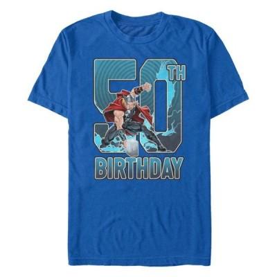 マーベル メンズ Tシャツ トップス Fifth Sun Men's Thor 50th Birthday Short Sleeve T-Shirt