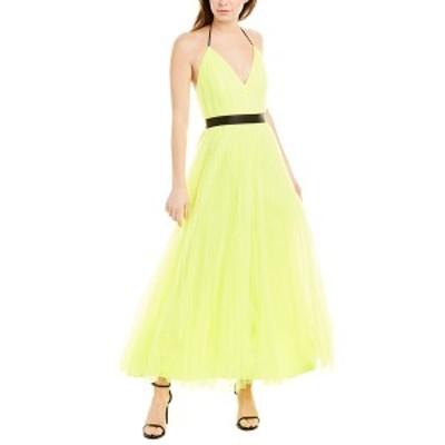 アリス アンド オリビア レディース ワンピース トップス alice + olivia Bitsy Pleated Gown neon yellow