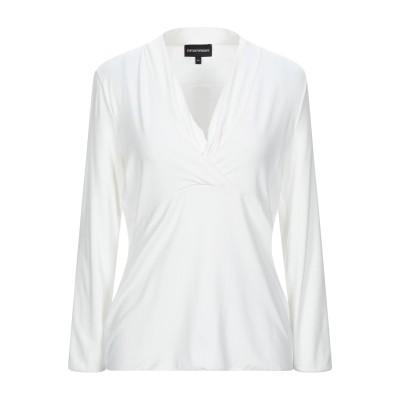 エンポリオ アルマーニ EMPORIO ARMANI T シャツ ホワイト 44 レーヨン 95% / ポリウレタン 5% T シャツ