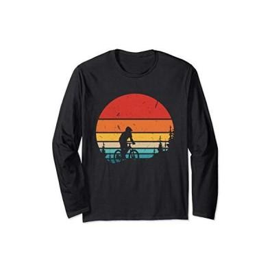 ヴィンテージマウンテンバイクサンセットダウンヒルサイクリングオフロード 長袖Tシャツ