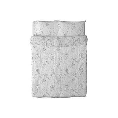IKEA Alvine Kvist 掛け布団カバーと枕カバー ホワイト/グレー フル/クイーン(ダブル/クイーン)
