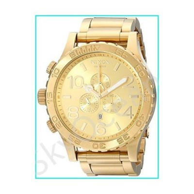 Nixon A083502 51-30 Chrono A083502 All Gold Men's Watch (51mm. Gold Watch Face/ 25mm Gold Stainless Steel Band)【並行輸入品】