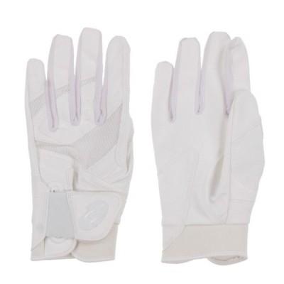 アシックス 野球 高校野球対応 両手用 バッティング用手袋 GS イージーバインド 3121A465 : ホワイト asics