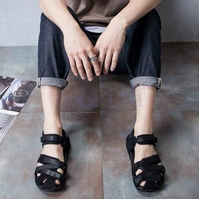 スポーツ サンダル アウトドア メンズ サボ リゾート 夏 サマー ビーチ 海 軽量 靴 歩きやすい ブラック 大きいサイズ LT-1641