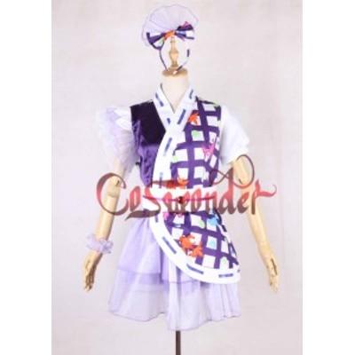 高品質 高級コスプレ衣装 ももクロ 風 桃神祭 タイプ 紫 オーダーメイド コスチューム ハロウィン